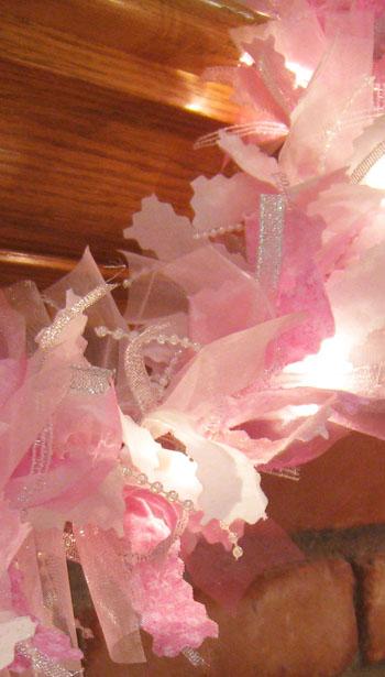 Pink Christmas Garland